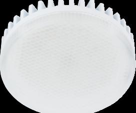 Ecola GX53 LED 10,0W Tablet 220V 6000K матовый поликарбонат (ребристый алюм. радиатор) 27×75