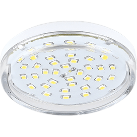 Ecola Light GX53 LED 8,0W Tablet 220V 4200K 27×75 прозрачное стекло 30000h