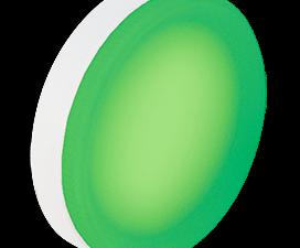 Ecola GX53   LED color Premium 12,0W Tablet 220V Green Зеленый матовая 28×74