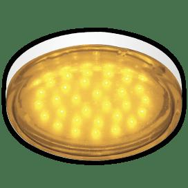 Ecola GX53   LED color  4,4W Tablet 220V Yellow Желтый прозрачное стекло 27×74