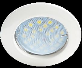 Светильник Ecola MR16 DL100 GU5.3 встр. литой Белый 24×75