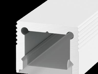 Накладной алюминиевый профиль LS.1613 белый,  для однорядной ленты