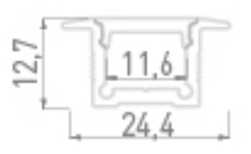 Профиль алюминиевый встраиваемый DesignLed LE.2613