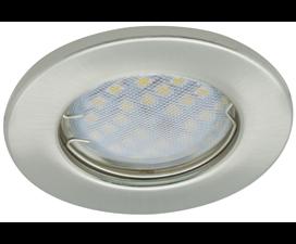 Ecola Light MR16 DL90 GU5.3 Светильник встр. плоский Сатин-Хром 30×80