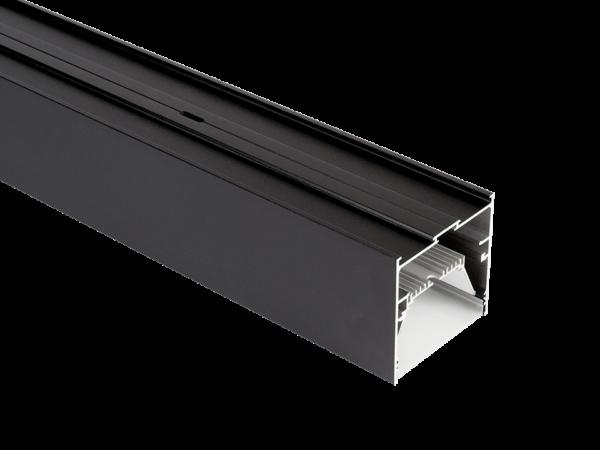 Подвесной/встраиваемый/накладной алюминиевый профиль L9086, черный