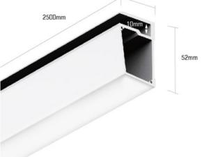 Алюминиевый профиль для стеклянных полок PS.3452