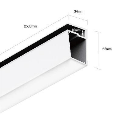 Профиль алюминиевый для стеклянных полок DesignLed PS.3452