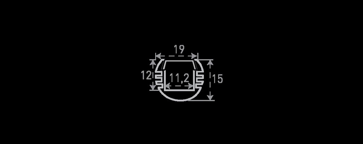 Алюминиевый профиль круглый «вешалка» SF-1915