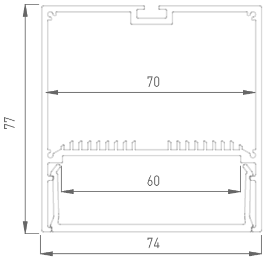 Профиль алюминиевый DesignLED LS.7477