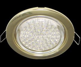 Ecola GX53 H4 светильник встраиваемый без рефлектора Золото 38×106 — 10 pack