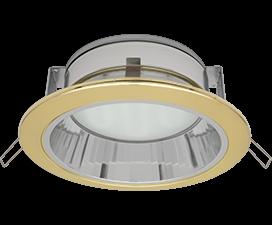 Ecola GX70-H6R светильник золото встр. с рефл.  65×171