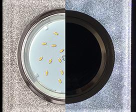 Ecola GX53 H4 LD5311 Glass Стекло Квадрат скошенный край с подсветкой  хром — серебряный блеск 38×12