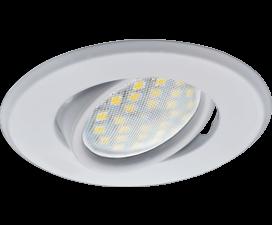 Ecola MR16 DH09 GU5.3 Светильник встр. поворотный плоский (скрытый крепеж лампы) Белый 25×90