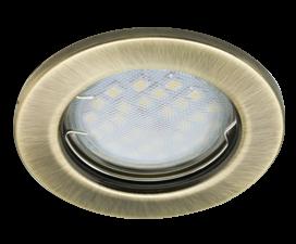 Ecola Light MR16 DL90 GU5.3 Светильник встр. плоский Черненая Бронза 30×80