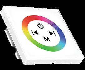 Ecola LED strip RGB Controller 12A 144W 12V(288W 24V)настенный белый с кольцевым сенсором с установ.