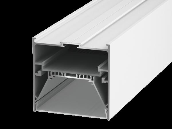 Подвеснойвстраиваемый/накладной алюминиевый профиль L9086, белый