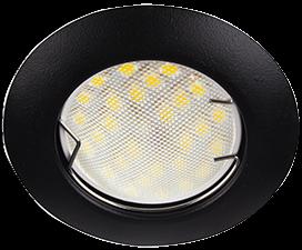 Ecola Light MR16 DL92 GU5.3 Светильник встр. выпуклый Черный матовый 30×80 — 2pack (кd74)
