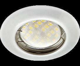 Ecola Light MR16 DL92 GU5.3 Светильник встр. выпуклый Перламутровое серебро 30×80