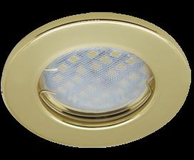 Ecola Light MR16 DL90 GU5.3 Светильник встр. плоский Золото 30×80