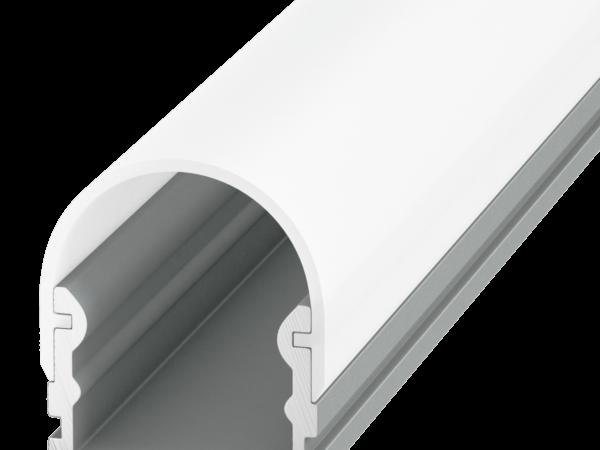 Алюминиевый профиль накладной с полукруглым экраном ROUND SF-2121-RD