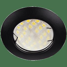 Ecola Light MR16 DL92 GU5.3 Светильник встр. выпуклый Черный матовый 30×80 (кd74)