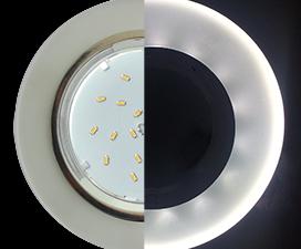 Ecola GX53 H4 LD5310 Glass Стекло Круг с подсветкой  хром — матовый 38×126 (к+)