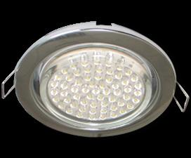 Ecola GX53 H4 светильник встраиваемый без рефлектора Хром 38×106 — 10 pack