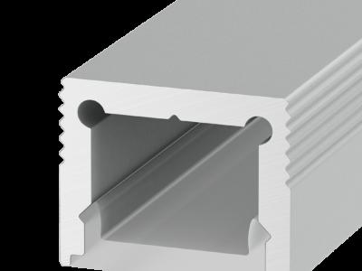 Накладной алюминиевый профиль LS.1613 для однорядной ленты