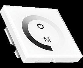 Ecola LED strip Dimmer Panel 12A 144W 12V (288W 24V) настенный белый с кольцевым сенсором с установ.