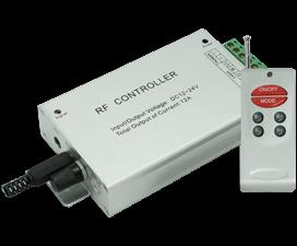 Ecola LED strip RGB RF Аudio controller 12A 144W 12V (288W 24V) с радиопультом управления (цветомузы