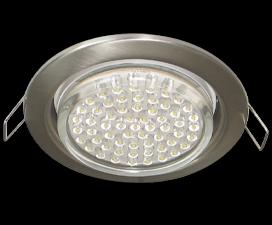 Ecola GX53 H4 светильник встраиваемый без рефлектора Сатин-Хром 38х106 — 10 pack