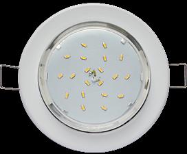 Ecola Light GX53-H6 светильник металл. встраиваемый плоский белый 101×16
