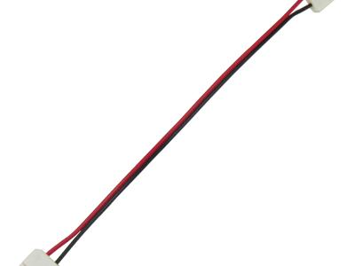 Ecola LED strip connector соед. кабель с двумя 2-х конт. зажимными разъемами 10mm 15 см 1шт.