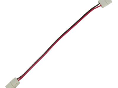Ecola LED strip connector соед. кабель с двумя 2-х конт. зажимными разъемами 8mm 15 см 1шт.