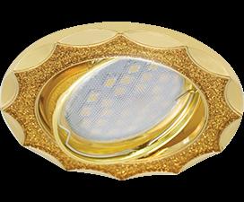 Ecola MR16 DL36S GU5.3 Светильник встр. поворотный Звезда под стеклом Золотой блеск/Золото 26×84