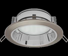 Ecola GX70-H6R светильник сатин-хром встр. с рефл.  65×171