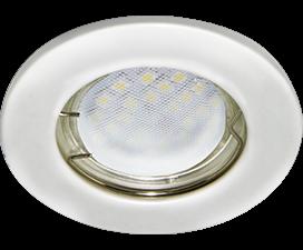 Ecola Light MR16 DL90 GU5.3 Светильник встр. плоский Перламутровое серебро 30×80