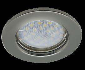 Ecola Light MR16 DL90 GU5.3 Светильник встр. плоский Черный Хром 30×80