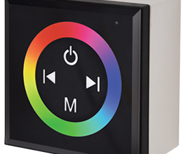Ecola LED strip RGB Controller 12A 144W 12V (288W 24V) настенный черный с кольцевым сенсором с устан