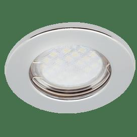 Ecola Light MR16 DL90 GU5.3 Светильник встр. плоский Хром 30×80