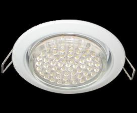 Ecola GX53 H4 светильник встраиваемый без рефлектора Белый 38×106 — 10 pack