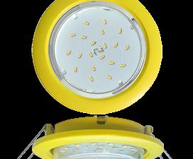 Ecola GX53 5355 Встраиваемый Легкий Желтый (светильник) 25×106