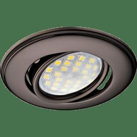 Ecola MR16 DH03 GU5.3 Светильник встр. поворотный выпуклый (скрытый крепеж лампы) Черный Хром 25×88