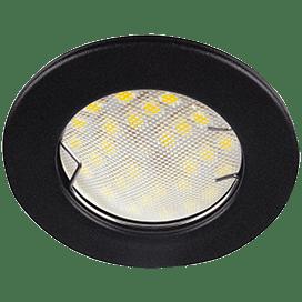 Ecola Light MR16 DL90 GU5.3 Светильник встр. плоский Черный матовый 30×80 (кd74)