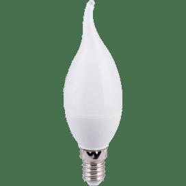Ecola candle   LED 6.0W 220V E14 2700K свеча на ветру (композит) 118×37