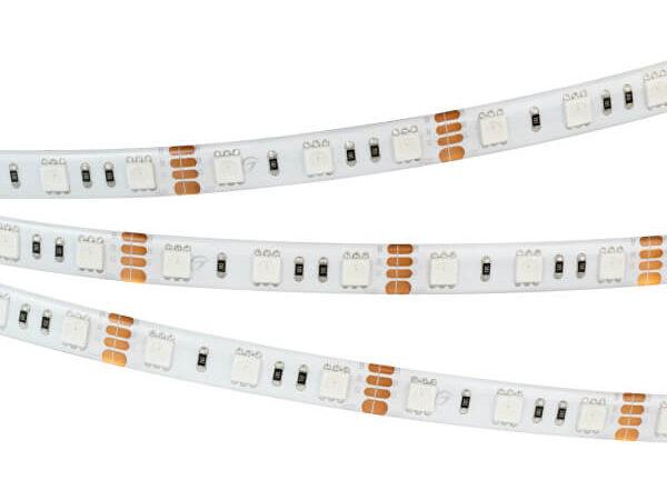 Светодиодная лента герметичная RTW-SE-B60-10mm 12V RGB (14.4 W/m, IP65, 5060, 5m) (arlight, -)