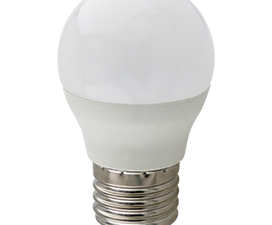 Ecola globe   LED Premium 10,0W G45  220V E27 6000K шар (композит) 82×45