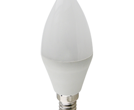 Ecola candle   LED Premium 10,0W 220V E14 4000K свеча (композит) 100×37