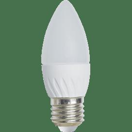 Ecola Light candle   LED  5,0W 220V E27 4000K свеча 100×37