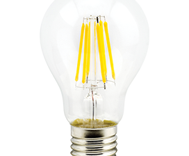 Ecola classic   LED Premium  8,0W A60 220-240V E27 4000K 360° filament прозр. нитевидная (Ra 80, 100